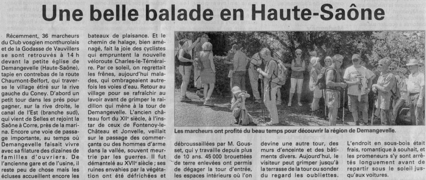 Calendrier Marche Populaire Haute Saone.Presse